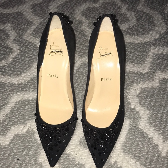 Christian Louboutin Suede Pump Adorned